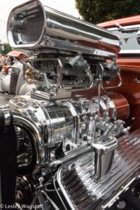 Cromed engine with a huge blower on display at the Port Coquitlam Car Show held in August every year.