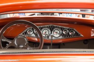 A simply beautyful dash on a copper coloured custom truck at the POCO Car show held every summer.